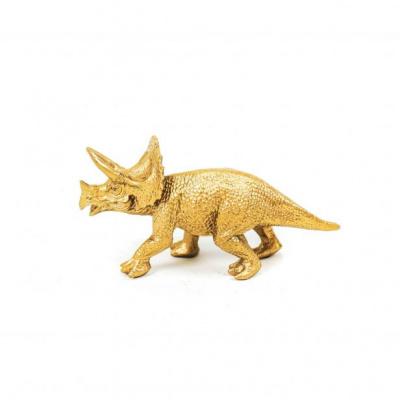 Dino Triceratops - Goud - 18x5x10cm