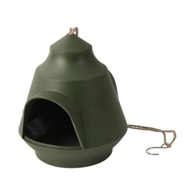 Vogelvoeder huisje ø18x19.5cm groen