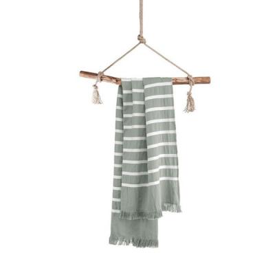 Hamamdoek Fouta Sunny Stripes Jade - 100x180 cm