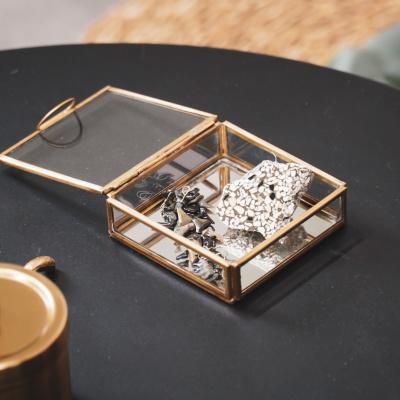 Glaskastengold - 10x10x3,5 cm