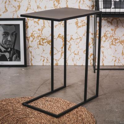 Bijzettafel-Metaal-Zwart-45x30x60cm