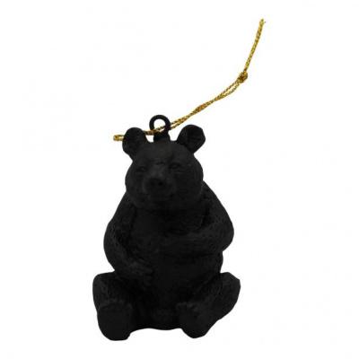 Xmas Hanger Panda Black 6,5x3x8