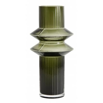 Rilla Vase Glas transparent grün m