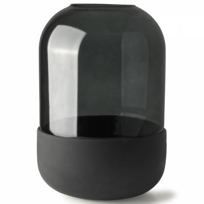 Houder voor diffuser/bloemen/kaars 500ml Zwart