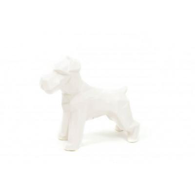 Hond Geometrisch-Wit -18,5x7,5x16,5cm