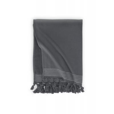 Hammam-Handtuch weiche Baumwolle Anthrazit - 100x180 cm