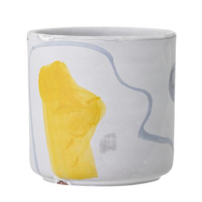 Azura Deco bloempot wit terracotta