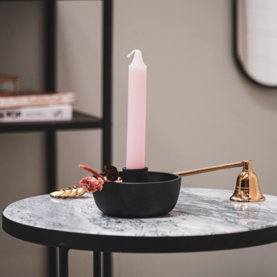 Candlestick Scale Black - 10x10x6cm