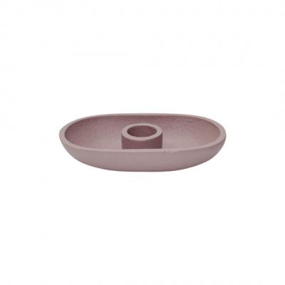 Kerzenständer Oval - Rosa