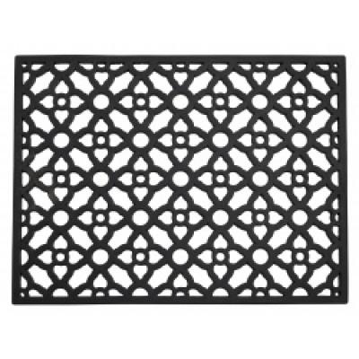 CETUS mat zwart rubber