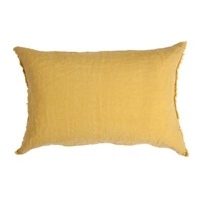 Wurfkissen casual leinen ocker gelb - 40x60 cm