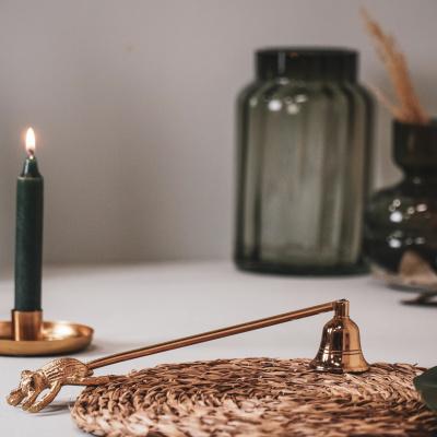 Kerze über Insektengold - 26x4x5cm