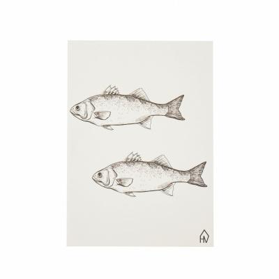 Kaart Vissen-A6