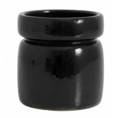 Isa Töpfe glänzende schwarze Glasur