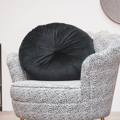 Zwart Fluwelen Kussen-Ø 55cm