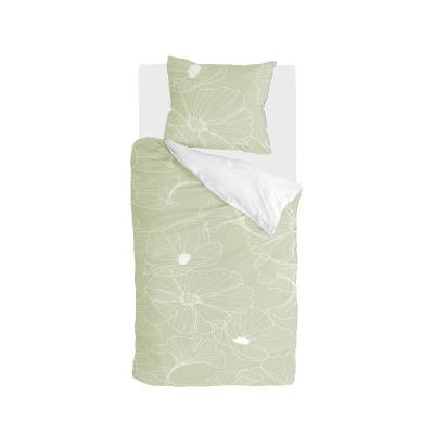 Bettbezug Blossom Tinte hellgrün - 135x200 cm