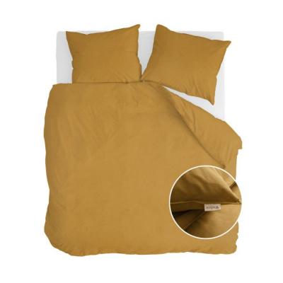 Dekbedovertrek Vintage Cotton Honing Mosterd - 200x220 cm