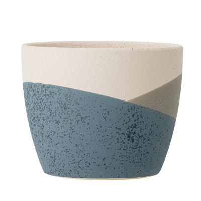 Noak Deco bloempot blauwe terracotta