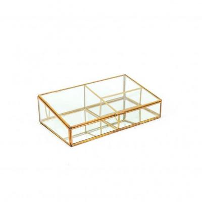 Opbergbox 3-vak - Goud- 30x17x8,5cm