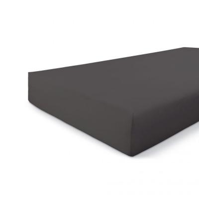 Hoeslaken Jersey Stretch Antraciet - 90x220 cm