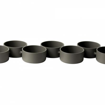 Teelichthalter aus Metall 7 ST grau