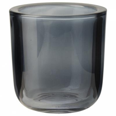 Glazen theelichthouder ø75x8cm Blauw