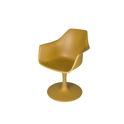 Sessel Polyester Ocker, gelber Ocker-Gelb