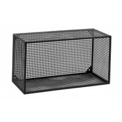 Wire Box Voor Wand-, Zwart, L