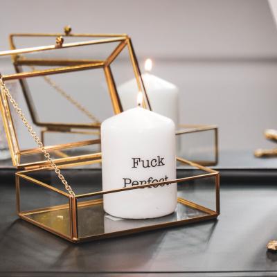 Kerze Blunt White - Fick perfekt