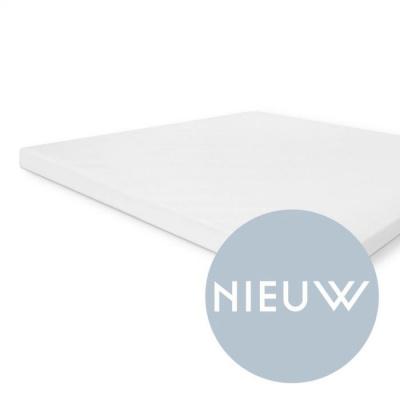 Molton Cotton Cover Topper Wit - 160x200 cm