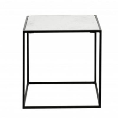 Cube Zijlijst, Witte Marmer, S