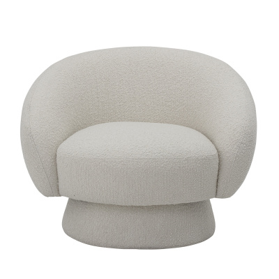 Ted lounge stoel wit polyester