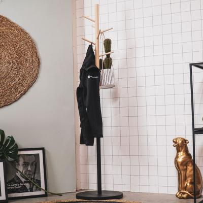 Mantel Rack Tauchfarbstoff Black-Wood-40x40x165cm