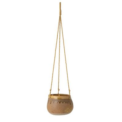 Ibina bloempot opknoping geel steengoed