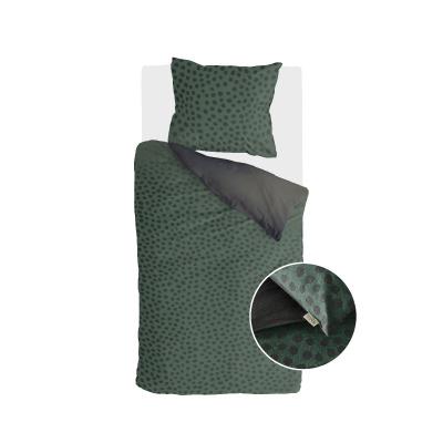 Dekbedovertrek Spots & Dots Donker Groen - 135x200 cm