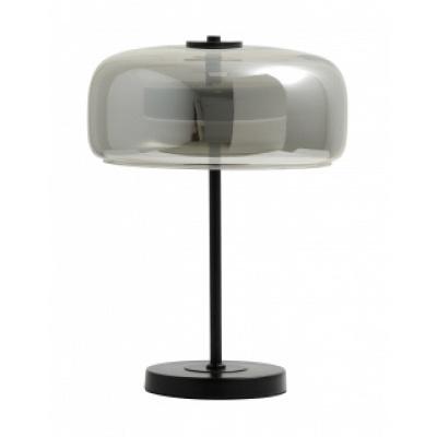 Ierse tafellamp grijs metallic