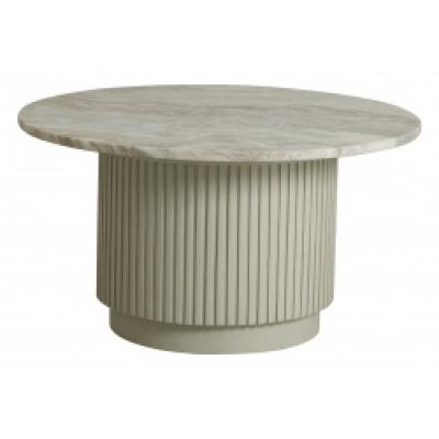 ERIE round salontafel wit marmeren blad