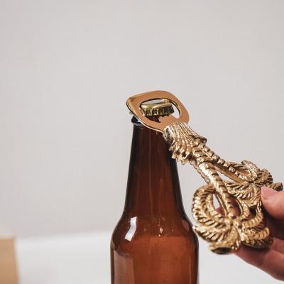 Flessenopener Palmbomen Goud - 19,5cm