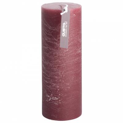 Rustikale Kerze Ø68x19cm rot / pink