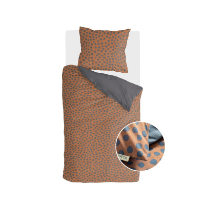 Dekbedovertrek Spots & Dots Cognac - 135x200 cm