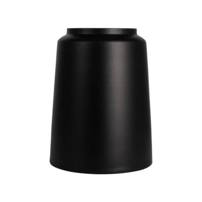 Vaas metaal ø19.5x24.5cm zwart