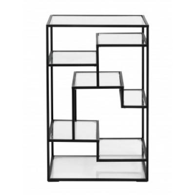 Display Met Glazen Planken, Zwart