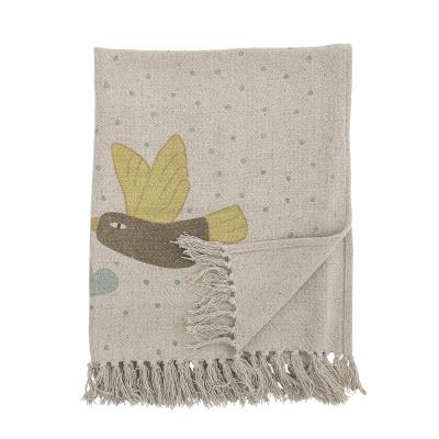 Alois deken natuur gerecycled katoen