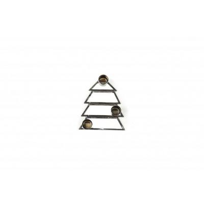 Kerstboom Kandelaar - 3 cups - Zwart