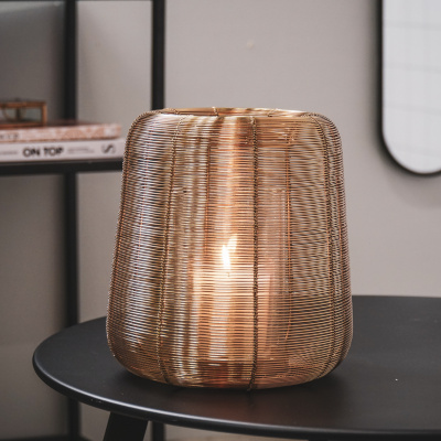 Metalen Windlicht-Goud 24cm