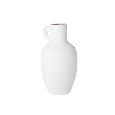 Keramikvase Marokko 35 cm Weiß Rabia