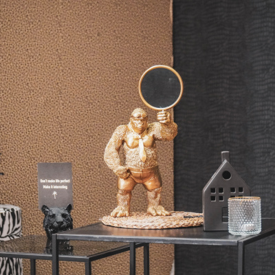 Stehender Gorilla-Spiegel - 20x35x18cm