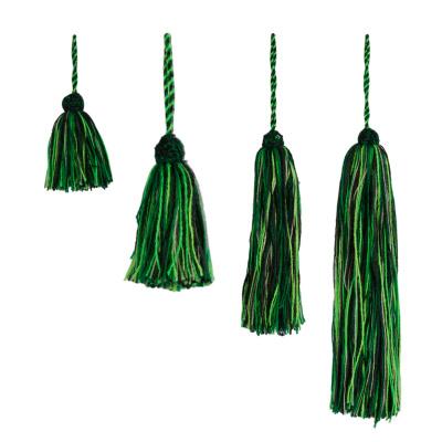 Marokkaanse Tassel Wol Groen XL