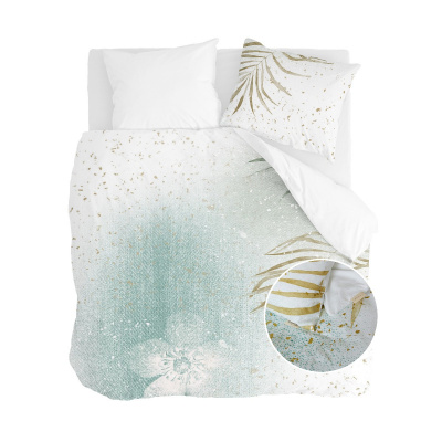Bettbezug abdeckte Natur Grün / Gold - 240x220 cm