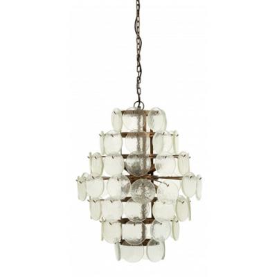 Opknoping Lamp, Helder Glas Munten, Large